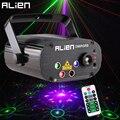 ALIEN Neue 96 Muster RGB Mini Laser Projektor Licht DJ Disco Party Musik Laser Bühne Beleuchtung Wirkung Mit LED Blau weihnachten Lichter