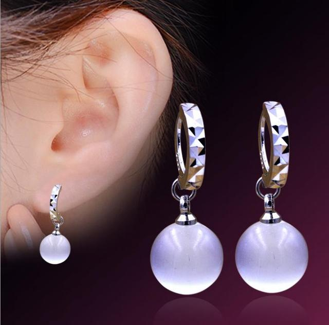 30% Percent Silver Plated Opal Earrings Circular Fashion Jewelry Factory Wholesale High Quality Earrings 2Y059