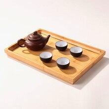 Размер заказной экологичный бамбуковый чайный поднос для чая, вечерние, для домашнего стола, для офиса, для отеля, украшения, кунгфу чай, аксессуары