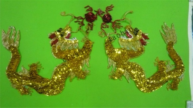 Or grande taille paires lot chinois nation courbe dragon