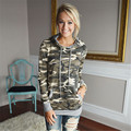 Plus Size Sweatshirt Women Camouflage Printing Pocket Women Hoodies Sweatshirts Hooded Pullover Women Tops Sudaderas Mujer 2016