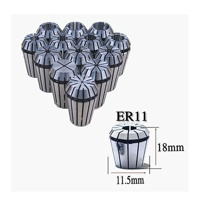 13pcs/lot ER11 Collet chuck ER11 Spring Collet for CNC Router Engraving Tool (13 sizes 1mm to 7mm )