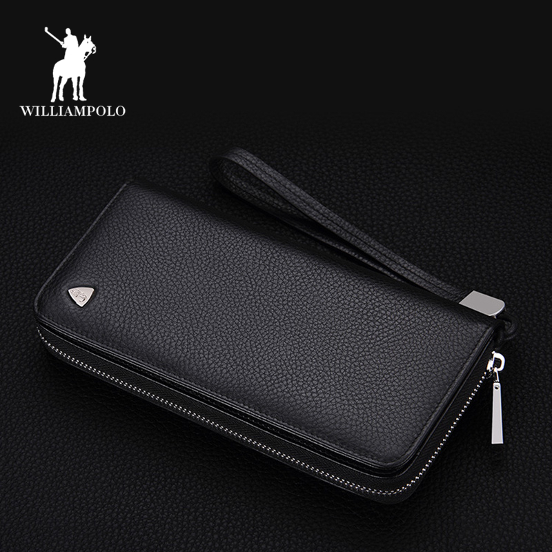 Williampolo Wallet High Quality Business Corss Pattern Mens wallets Genuine Leather Long Wallet Purses Clutch Bag Man PL131 2015 famous brand mens genuine leather business wallet man male multifunction large capacity clutch bag handbag wallet purses