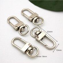 Wholesale Free shipping 40pcs/lot Small Silver Alloy Swivel Clasps Snap Key Hooks DIY Key Chain Ring HK-001
