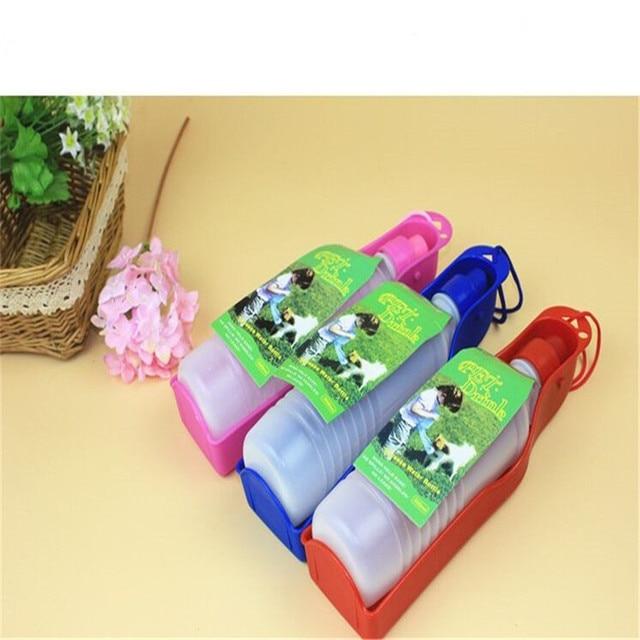 1pcsDog Travel Water Bottle Dispenser Foldable Plastic Dog Cat Drinking Water Feeder Portable Outdoor Pet Puppy Bowl 250ml 500ml 2