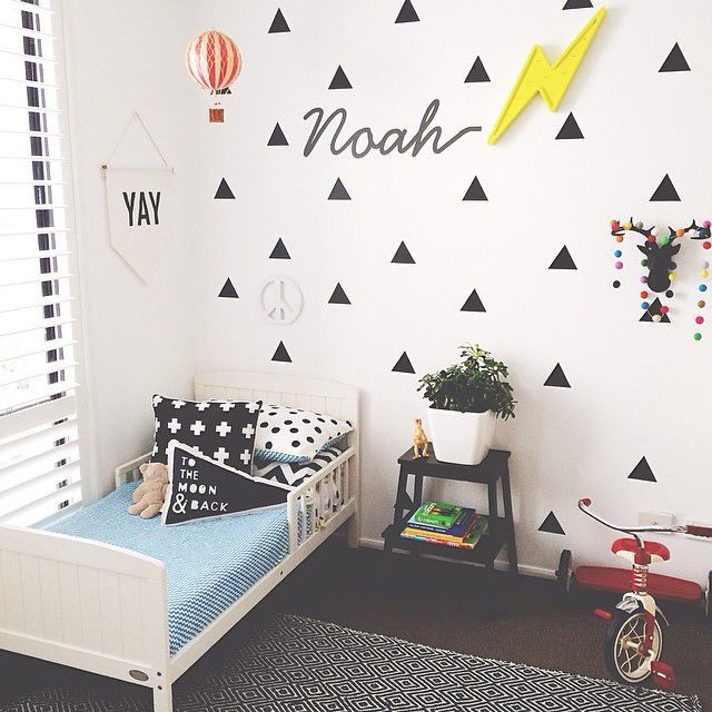 Aliexpress.com : Buy Triangle Wall Sticker Home Decor Baby Nursery Wall  Decals For Kids Room Modern Triangle Children Stickers Vinyl Wall Art P8  From ...