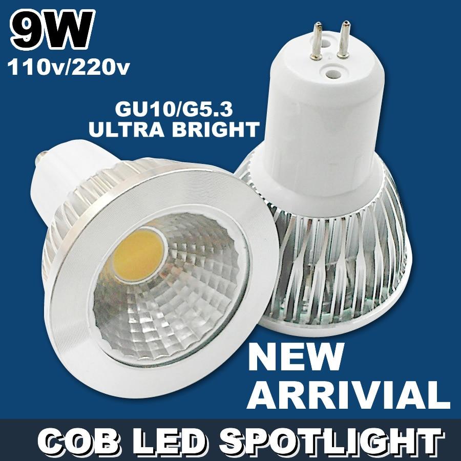 9W LED spotlight COB spot light GU10 GU5.3 E27 E14 dimmable led lamp <font><b>cup</b></font> <font><b>warm</b></font> <font><b>white</b></font> cold <font><b>white</b></font> wholesale downlight free shipping