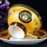 V Bone Porcelain Coffee Cups Vintage Ceramic Cups On glazed Advanced Tea Cups And Saucers Sets Luxury Gifts