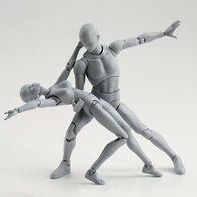 15 cm arte esboço desenhar masculino feminino corpo móvel chan ação conjunta figura brinquedos artista arte pintura anime modelo shf manequim