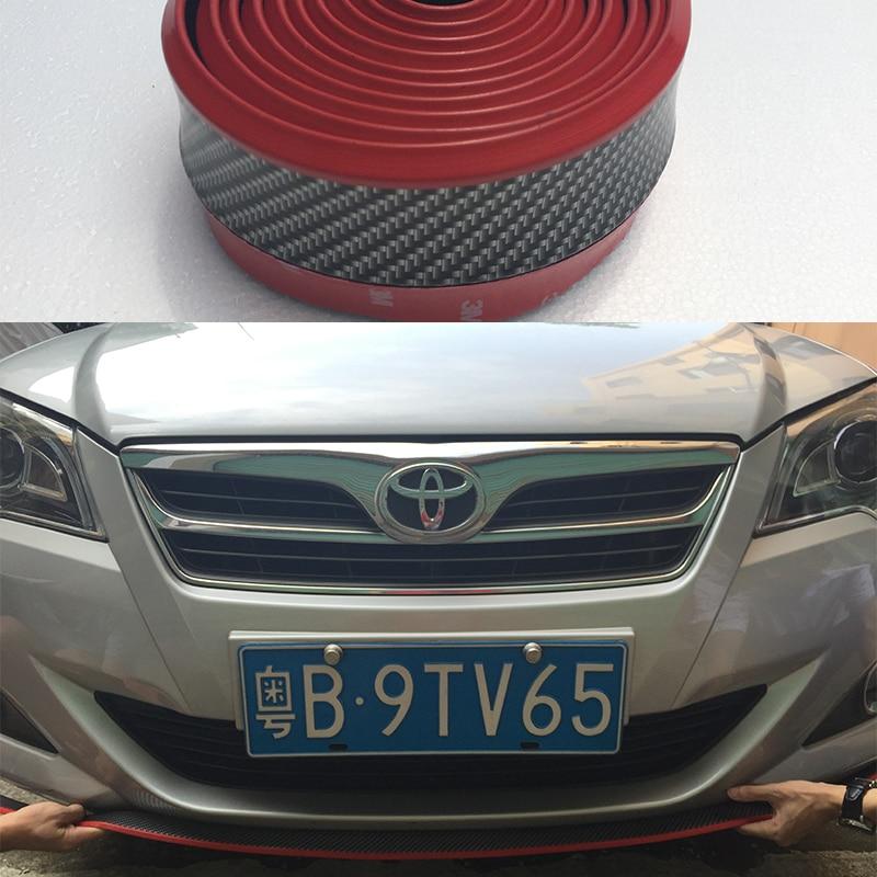 все цены на Universal universal type car front lip spoiler front bumper lip side skirt for Toyota Corolla REIZ YARiS camry