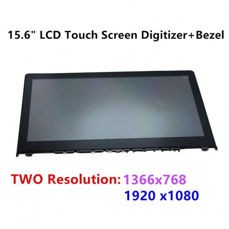 SANITER LCDOLED 15.6 Touch Screen Digitizer+Bezel Assembly For Lenovo Flex 3 15 15D 3-1570 3-1580 LP156WF6 SPL1 LP156WF4.SPL1