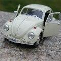 Brand new uni 1/32 escala diecast toys alemania 1967 volkswagen escarabajo modelo de coche de metal tire hacia atrás coche de juguete para el regalo/colección/niños