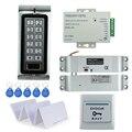 Full waterproof RFID access control system kit K2 digital lock+3A/12V power supply+electric drop bolt lock+10pcs ID key cards