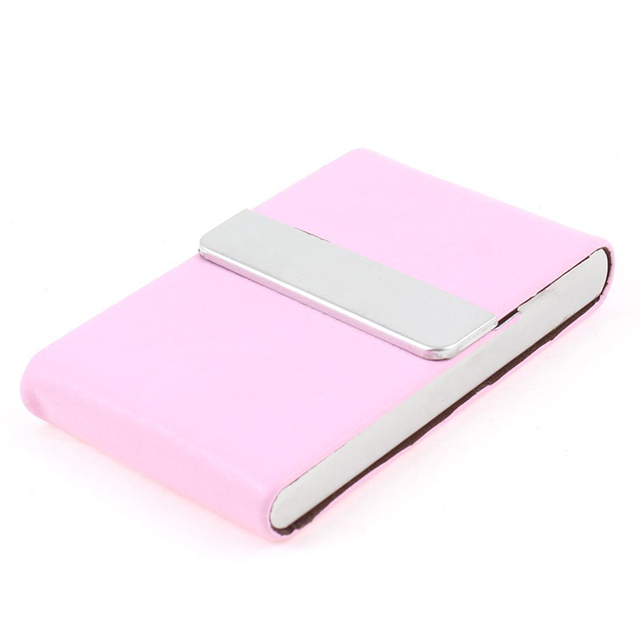 New faux leather coated metal flap mini business card holder pink in new faux leather coated metal flap mini business card holder pink colourmoves