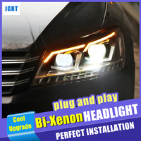 New design For Volkswagen Passat head lamps 2012 2015 bi xenon lens HID KIT headlights car styling modify to 2019 new head light