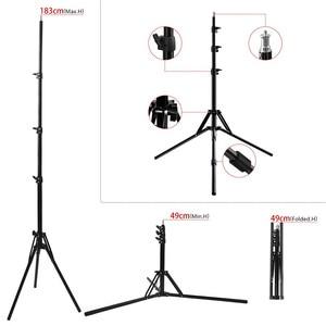 Image 5 - Fosoto三脚ライトスタンド & 1/4ネジポータブルヘッド用フォトスタジオ写真照明フラッシュ傘リフレクター