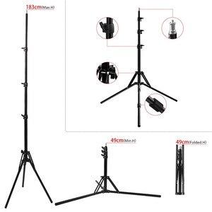 Image 5 - Fosoto Stativ Light Stand & 1/4 Schraube tragbare Kopf Softbox Für Foto Studio Fotografische Beleuchtung Flash Regenschirme Reflektor