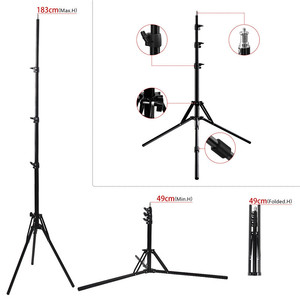 Image 5 - Fosoto Tripod Light Stand &1/4 Screw portable Head Softbox For Photo Studio Photographic Lighting Flash Umbrellas Reflector