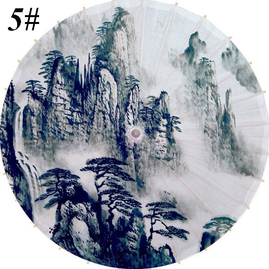 Free shipping Chinese traditional landscape painting umbrella rain-proof and sunshade oiled paper umbrella