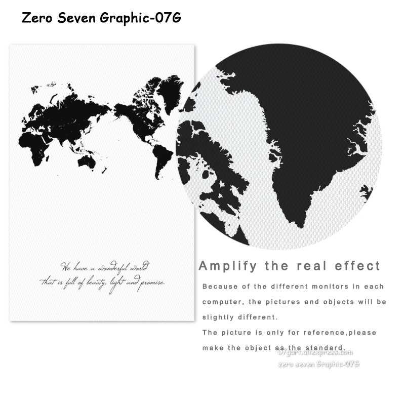 Frase Minimalista Y Mapa Del Mundo A4 Lienzos De Pintura Impresos Arte Cuadros De Pared Carteles De Sala De Estar Decoración De Dormitorio Murales