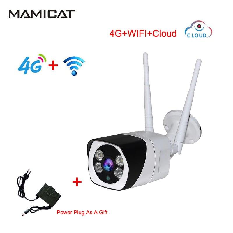 1080 P HD 3G 4G Carte SIM Caméra IP WIFI 4G Deux Caméras Sans Fil En Plein Air IP66 Étanche GSM P2P Réseau Nuage caméra vidéo
