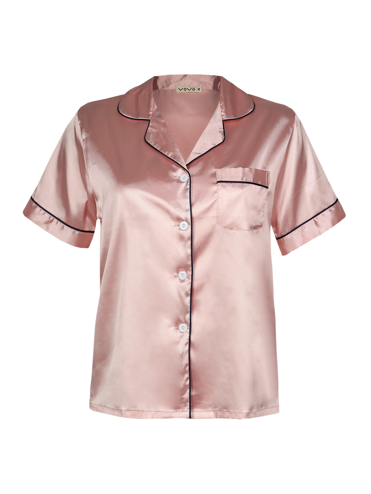 Short Sleeves Jacket Silk Blend