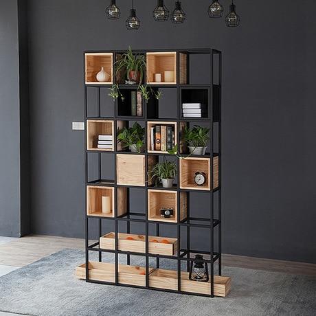 Etonnant Bookcases Living Room Furniture Home Furniture Wooden+steel Bookshelf  Cabinet Industrial Book Stand 120*