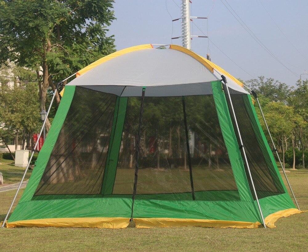 高品質 300*300*210 センチメートル超大 4 8person 家族パーティーガルドンビーチキャンプテントガゼボ太陽の避難所  グループ上の スポーツ & エンターテイメント からの テント の中 2