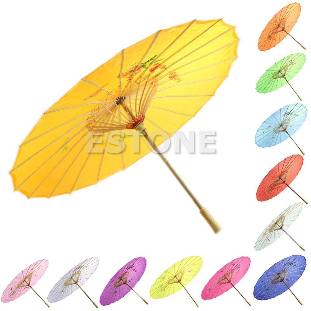 Japanese Chinese Umbrella Art Deco Painted Parasol Umbrellas