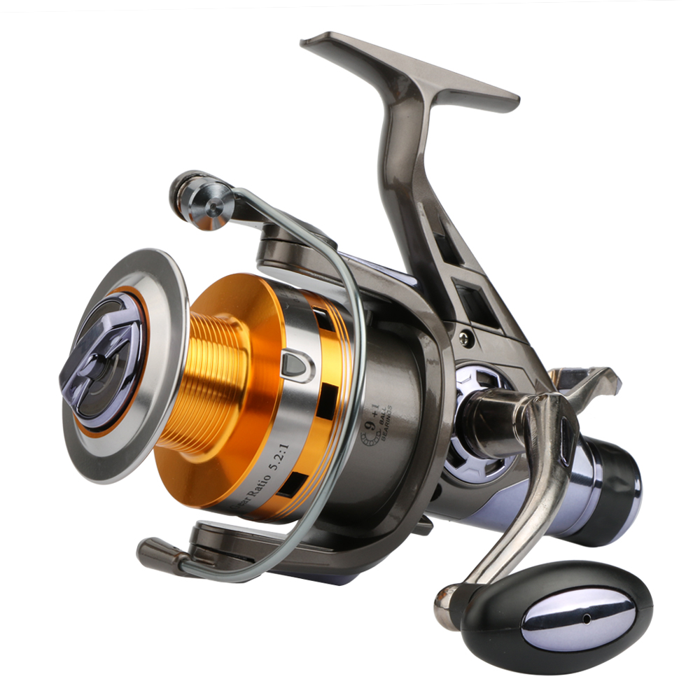 ФОТО Goture Spinning Fishing Reel KM&KS Series Double Drag System Metal Spool Long Casting Carp Fishing Wheel For Fishing 5.2:1