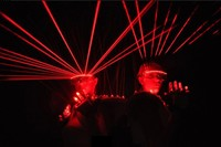 Free shipping Red laser glasses Party Red laser glasses 12pcs laser influx of people necessary stage flashing glasses