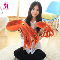Vanmajor Octopus Plush Toys Dolls The Cute Pillow Seat Cushion Backrest The Stuffed Toys For Children