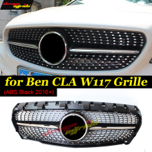 CLA-Class W117 Diamond Front grille Sports ABS Black Fits For MercedesMB CLA200 CLA250 CLA180 Without sign Grills 16+