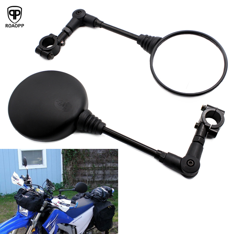 ROAOPP Motorcycle Mirror 22MM Handle Bar End Mirrors For Yamaha Suzuki Ducati Kawasaki BMW Buell KTM Dual Sport Dirt Bikes ATV