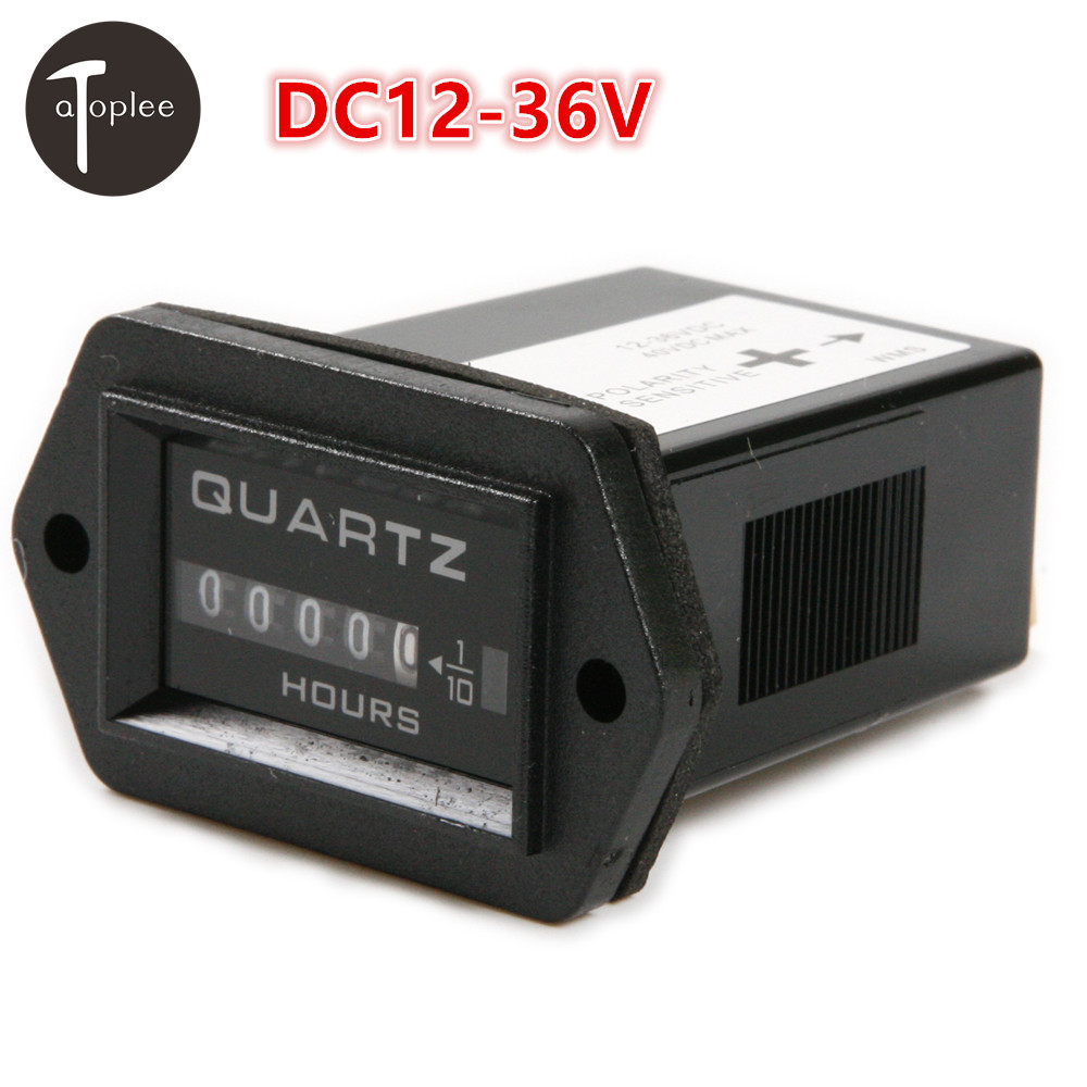 1PCS Car Engine Accessories DC12-36V Electromechanical Hour Meter Counter Gauge Boats Cars Trucks Tractor Hourmeter