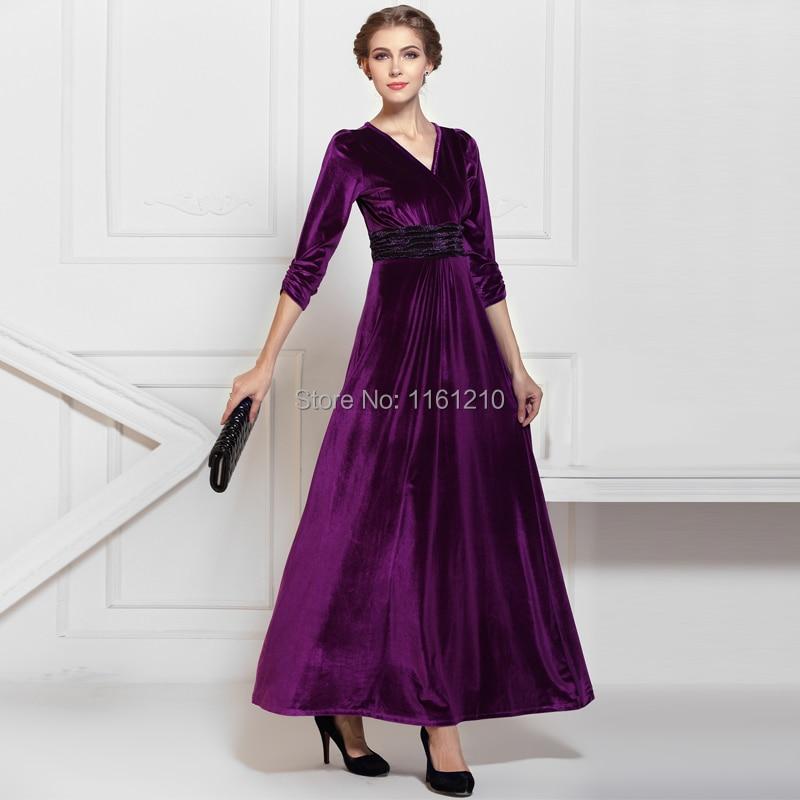 Popular Purple Velvet Maxi Dress-Buy Cheap Purple Velvet Maxi ...