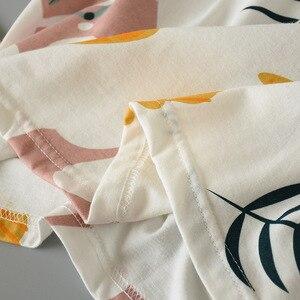 Image 5 - 2019 sommer Und Frühling Damen Pyjamas Set Frauen Nette Karikatur Gedruckt Nachtwäsche Set 2 Pcs Kurzarm + Shorts Volle baumwolle Homewear