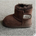 2016 niños botas de nieve Del Bebé Infant Toddler zapatos de lana de piel de invierno caliente