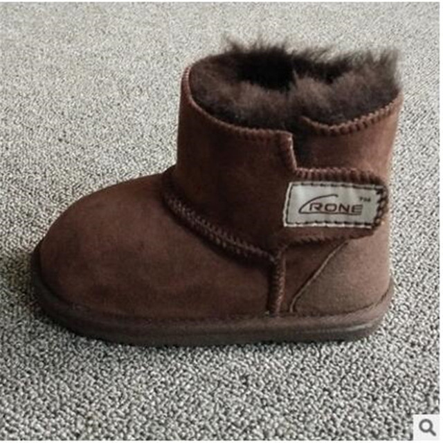2016children   snow boots Baby Infant Toddler wool fur warm winter  shoes