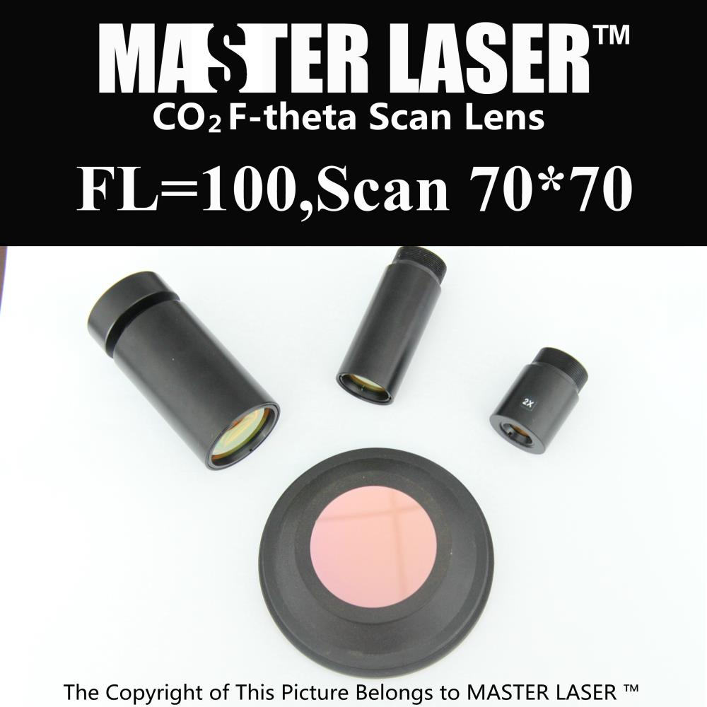 Focal Length 100mm Scan Area70*70  USA CVD ZnSe CO2 Galvo F-theta Scan Lens System for Laser Marking Machine Scan Lens  цены