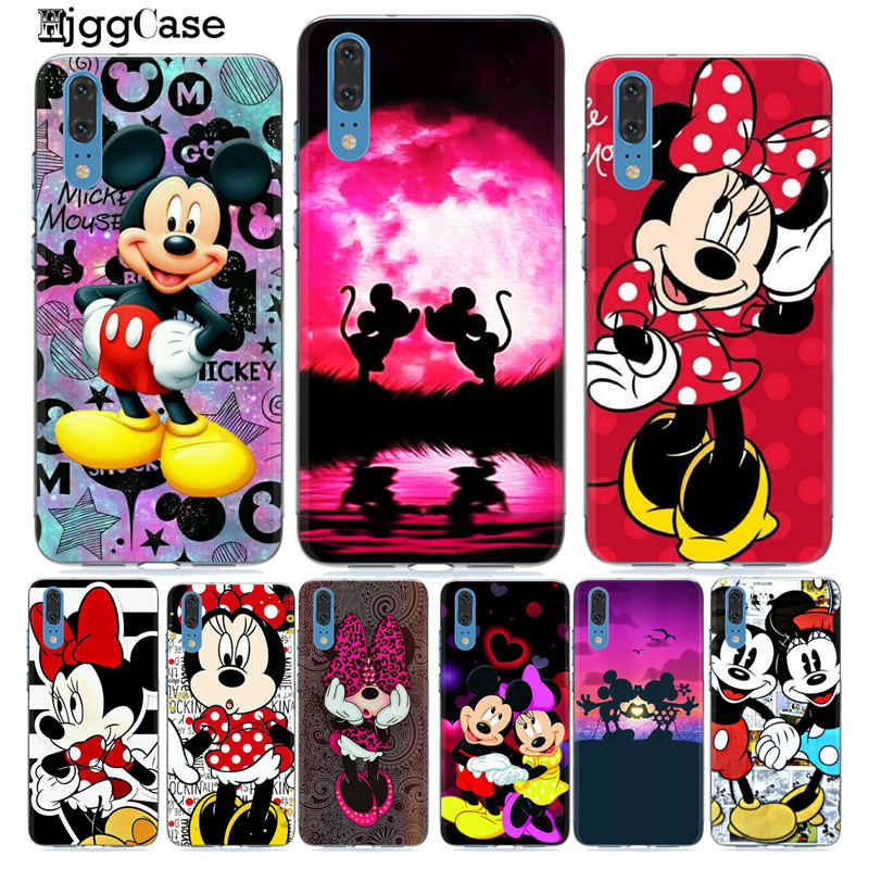 Cute Mickey Minnie For Huawei mate 10 20 Lite plus pro For Huawei Honor 9 10 Lite 8X 8C Y9 2019 For Coque P10 P20 Lite pro Cover