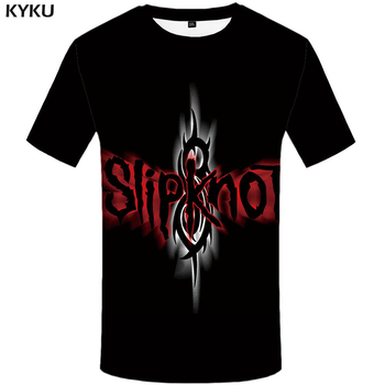 KYKU Brand Slipknot T-shirt Gothic Tshirt Punk Tops Rocking Clothes  Shirts Tees Men Funny 2017 Hip hop Rock