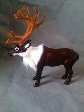 simulation Reindeer model toy polyethylene & furs large 23x22cm deer model,handicraft ,home decoration gift t385