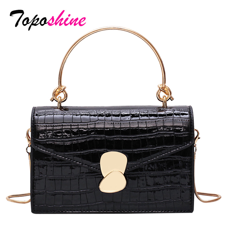 Toposhine Square Bag Messenger-Bag Ladies Handbag Casual Wild-Shoulder Small New-Fashion