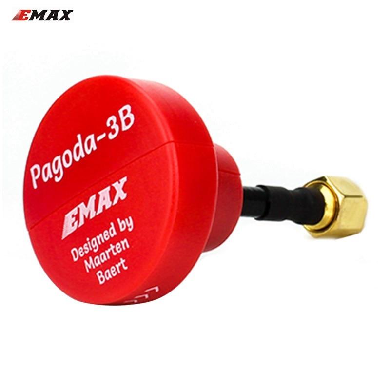 EMAX Pagoda 3B 5,8g 50mm larga RHCP W/SMA macho por Martín Baert FPV VTX antena rojo para modelos RC gafas transmisor