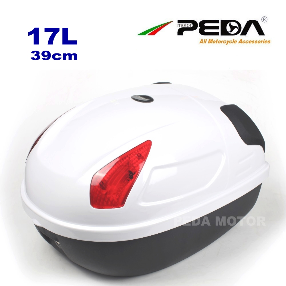 2018 e Bike Box ebike luggage Electric Scooter Trunk Motorcycle Top Case 17L Tail Box Luggage WHITE Baul Motocicleta Bauletto 2018 e bike box ebike luggage electric scooter trunk motorcycle top case 17l tail box luggage white baul motocicleta bauletto