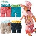 Verão Casuais Tarja Praia Shorts Crianças Roupas de Algodão Do Bebê Das Meninas Dos Meninos Calças Calças Desportivas Crianças Beach Wear