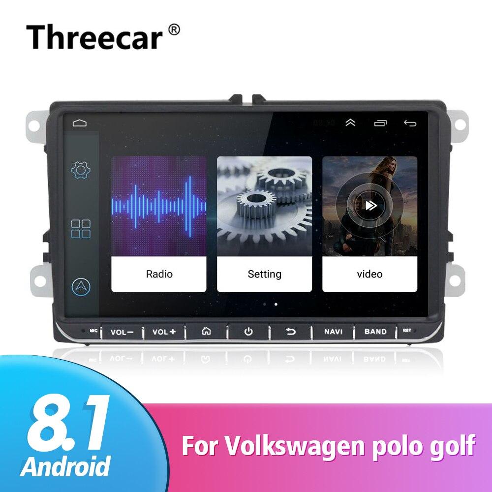 2 Din 9 pouces lecteur de Radio DVD GPS de voiture pour Volkswagen VW polo golf 5 touran passat B6 b7 jetta tiguan seat leon