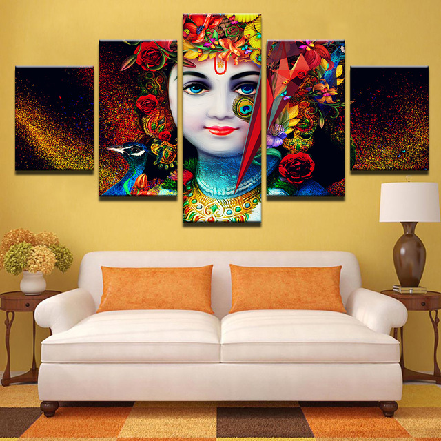 Hd printed pictures for living room canvas modular wall - Wall pictures for living room india ...