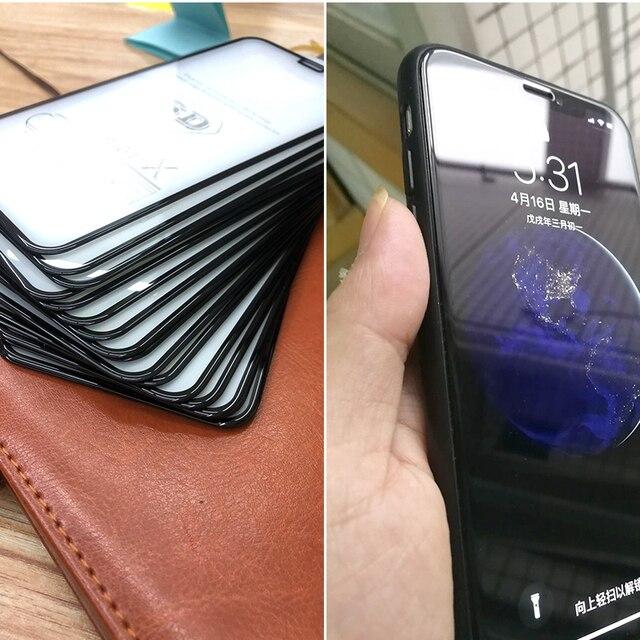 Protecteur D'écran en verre Pour iPhone 8 7 6 S Plus X 2